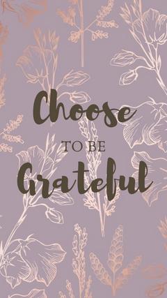 Choose to be grateful uwu