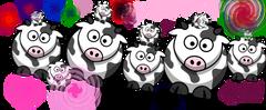 mah drawing of cows and bebe cows moo