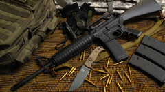 Wallpapers M16 rifle M16A1 M4A1 U S Army bullets ammunition