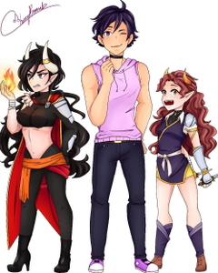 Genderbent Noi Asch and Ava Ava looks like someone I would date