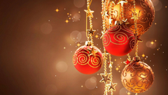 x1080 Sparkling christmas balls Wallpapers
