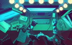 Wallpapers lights desktop computer anonymous hacker dressing