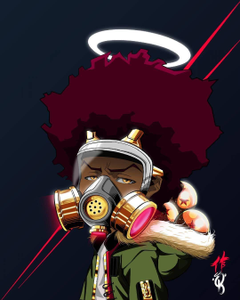 The Boondocks animation that addresses social issues and black