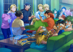 DUDES WE HAD A WHOLE PARTY I FORGOT WHAT HAPPEND THERE BUT I WOKE UP IN MY BEDROOOM AND EVERYONE WAS IN THE LIVING ROOM