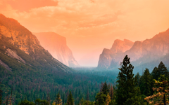 wallpapers 4k Yosemite Valley fog autumn american landmarks Yosemite National Park forest California USA America for desktop with resolution 3840x2400 High Quality HD pictures wallpapers