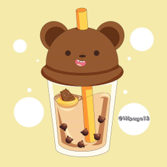 hizaya13 on Instagram Latte flavour with bear