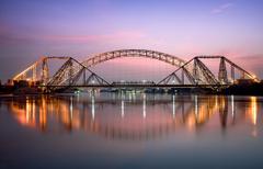Pakistan Hyderabad Bridge Night