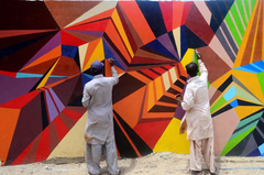 Pakistan Hyderabad City Painting