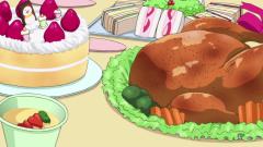food anime Turkey bird cakes