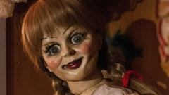 Sinister Doll Possesses Annabelle Comes Home Teaser Poster PAGEONE