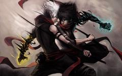 anime Duel Fantasy Battle War Warriors Magic Men Males