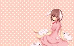 Animal ears brown hair bunny bunnygirl dress inaba tewi kobayashi