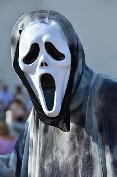 HD wallpaper person wearing Ghostface mask haloween fear skull