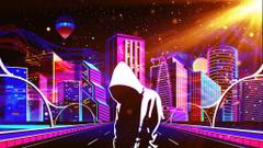 Scifi Neon Anonymous