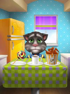 My Talking Tom Tom Happy to Put New Kitchen Wallpapers iOS iPad