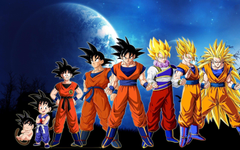 Goku Super Saiyan Levels Wallpapers