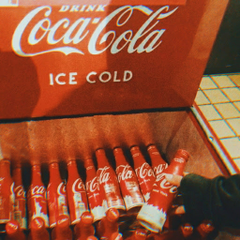 ice cold coke bottles