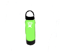 Badly Drawn Lime Green Hydro Flask