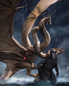 King Ghidorah vs Godzilla Antarctica Scene