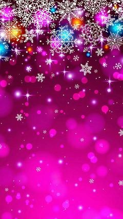 Winter pink wallper