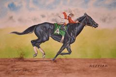 Ruffian Thoroughbred Horse Racing Watercolor Print