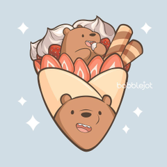 We Bear Bears Strawberry Crepe