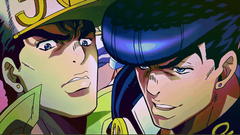 Jotaro vs Josuke Raindbow Pattern