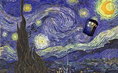 wallpapers Starry Night TARDIS desktop wallpapers in