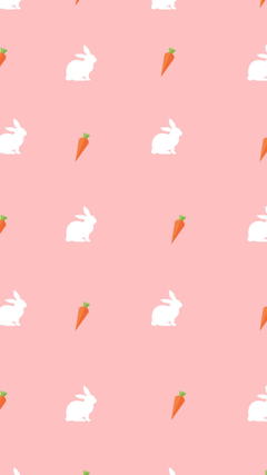 White rabbit carrot Easter phone wallpapers spring Lynn